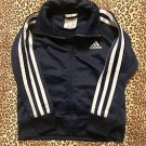 TODDLER BOYS ADIDAS TRACK SUIT JACKET W/ STRIPES RETRO BLUE WHITE L@@k! SZ 2/2T