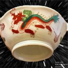 Set of 8 Antique REPUBLIC CHINA RED DRAGON RICE Soup bowls Handpainted ~RARE~ Lo