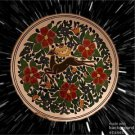MANOUSAKIS GREECE POTTERY HAND PAINTED DEER Stag Wall PLATE 24K GOLD L@@k