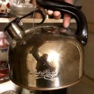 PAUL REVERE COPPER CLAD BOTTOM REVERE WARE TEA POT KETTLE Large 2-3QT L@@k!