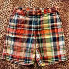POLO RALPH LAUREN TODDLER GIRLS & BOYS PLAID BOTTOMS SHORTS 100% COTTON SZ 3/3T