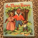 THE THREE BEARS ~ Classic Vintage 1950's Children's Whitman Tell-A-Tale Book