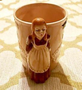 Vintage Enesco Ceramic Mugs I Saw Mommy Kissing Santa Claus Christmas L@@K! 1979