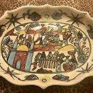 Vintage Xalitla Guerrero Jesus Roman Hand Painted Ceramic Hand Painted Platter