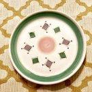 CALECA BELVIDERE ITALY 11-1/4 DINNER OR CHOP PLATE GREEN & PURPLE Ceramc 4 Avail