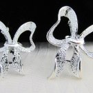 2 Pc Lot Vintage Gerry's Pair Textured Silver Plated Loopy Bows Scatter Pins