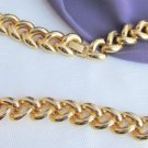 "Vintage Curb Chain Style 18"" Necklace Gold Plate Classic Design"