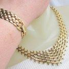 Vintage Unique Link Weave Choker Necklace Link Bracelet Classic Elegance