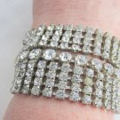 Vintag Juliana Wide Runway Bracelet Fully Loaded w/ 9 Rows Sparkling Rhinestones