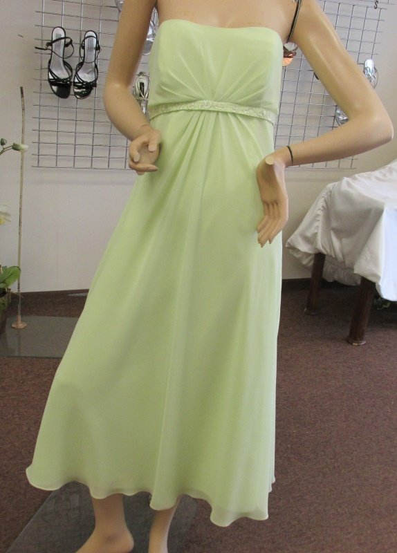New Sz 10 Light Green Georgette Dress Gown Maids MOB Prom Alyce Designs NWT