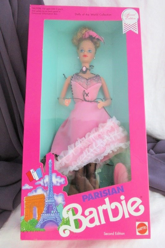 Parisian Barbie Doll 1990 Vintage Mattel 2nd Edition Dolls World Collection NRFB