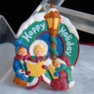 Colors of Christmas Happy Holiday Pin Victorian Carolers Resin New Avon NIB Mint