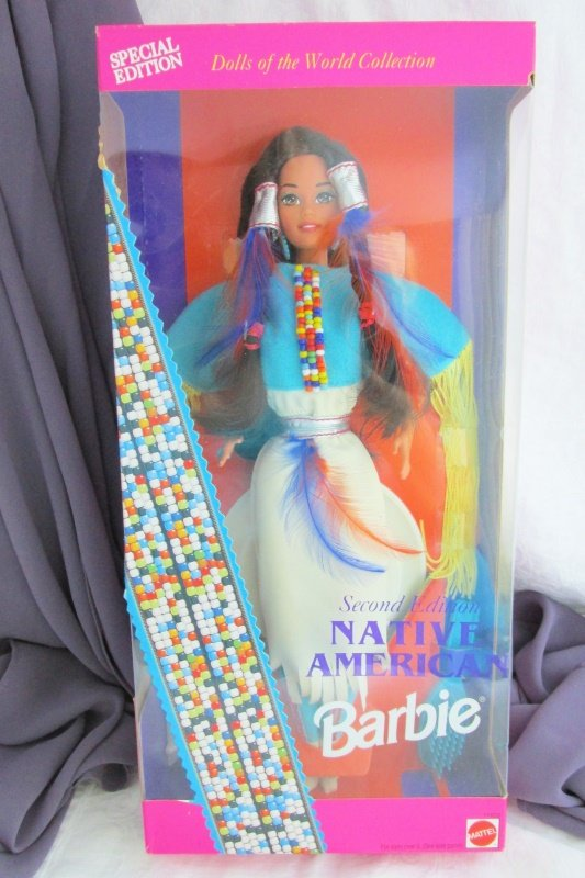 Native American Barbie Doll 1993 Vintage Mattel 2nd Ed Dolls World Collect NRFB