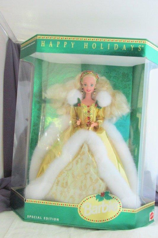 Happy Holidays Barbie Doll Blond 1994 Vintage Mattel Special Edition NRFB