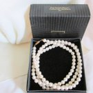"Vintage Avon Pearlesque Beauty 36"" Necklace 8MM Faux Pearls Flapper Length NIB"