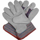 LEATHER WORK GLOVES (6 PAIRS)