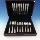 Repousse by Kirk Sterling Silver Flatware Set For 8 Service 32 Pieces