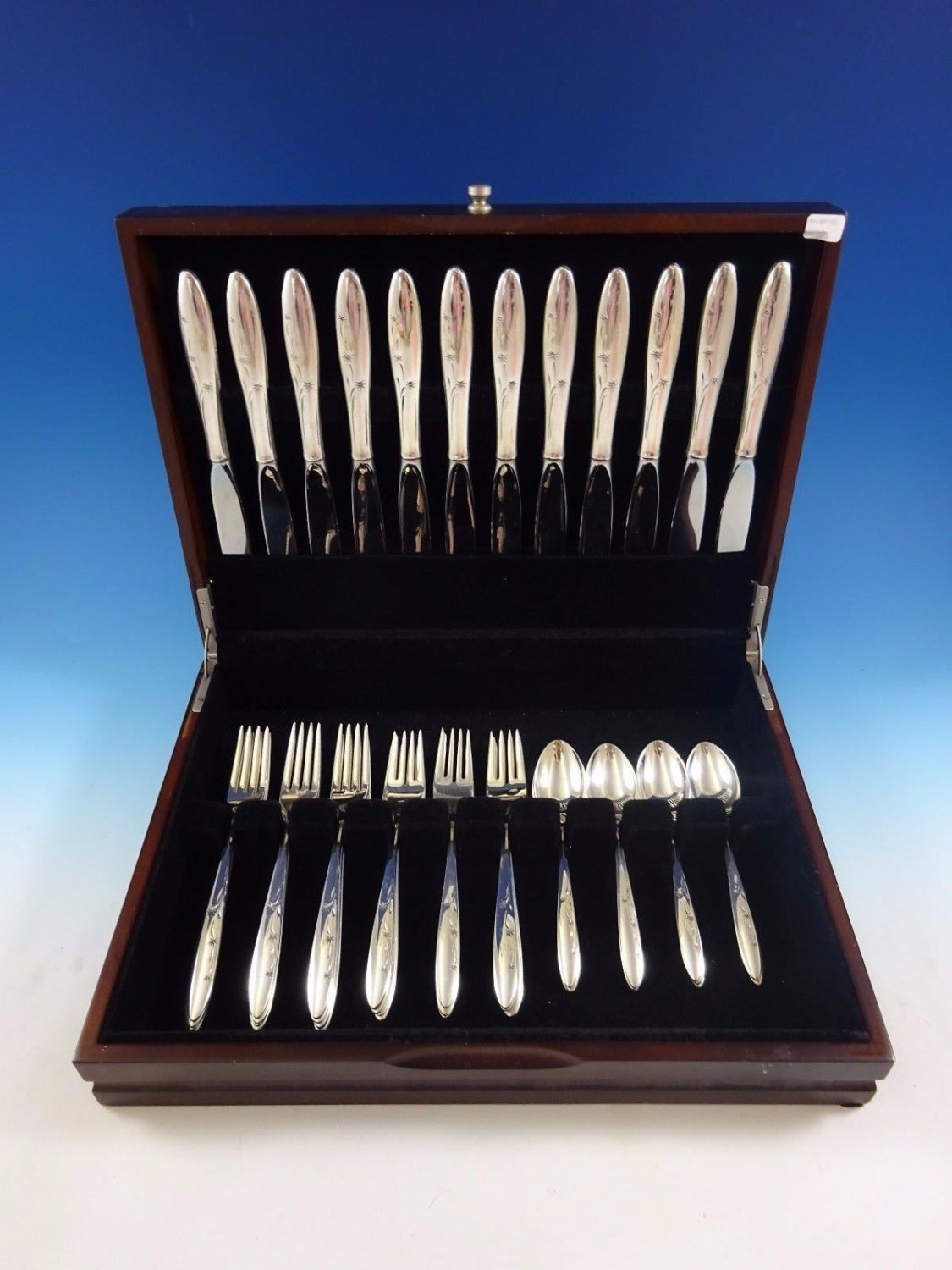 Celeste by Gorham Sterling Silver Flatware Service For 12 Set 48 Pieces
