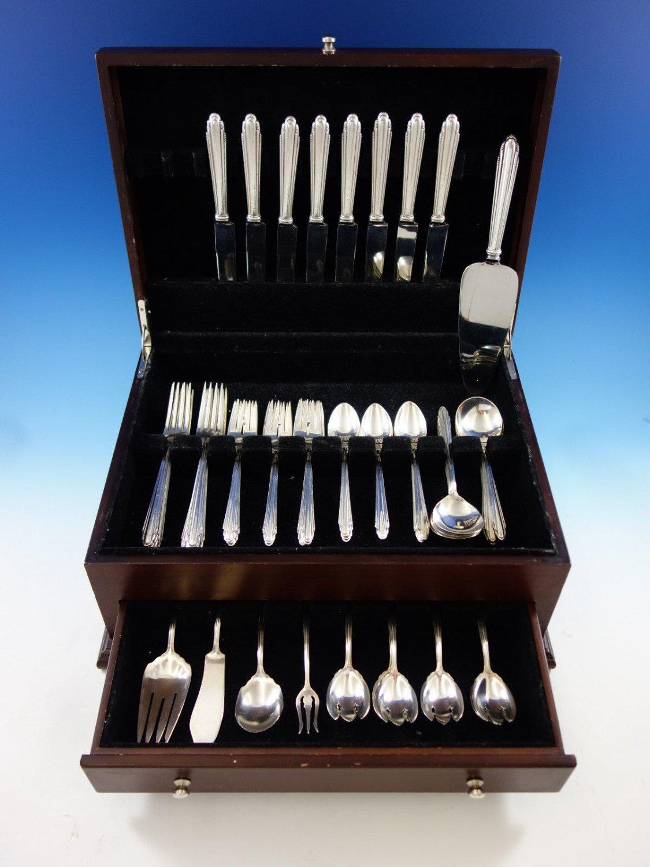 Contempora by D&H Sterling Silver Flatware Set For 8 Service 53 Pcs Art Deco