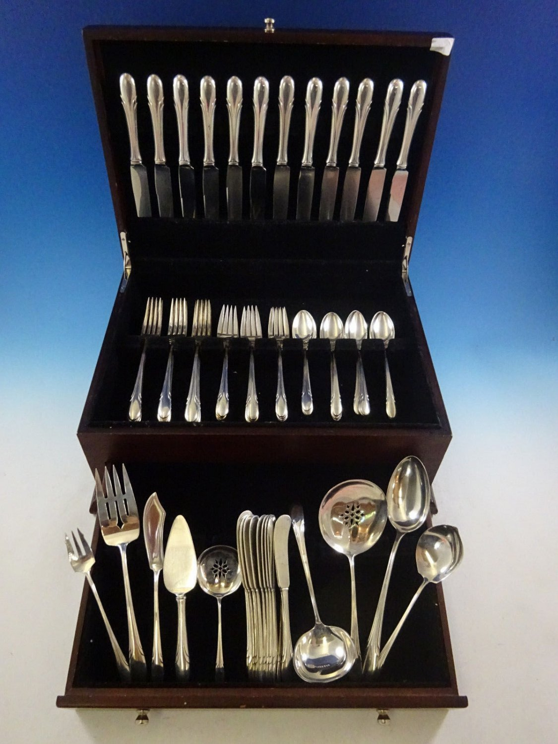 Symphony by Towle Sterling Silver Flatware Service For 12 Set 69 Pieces