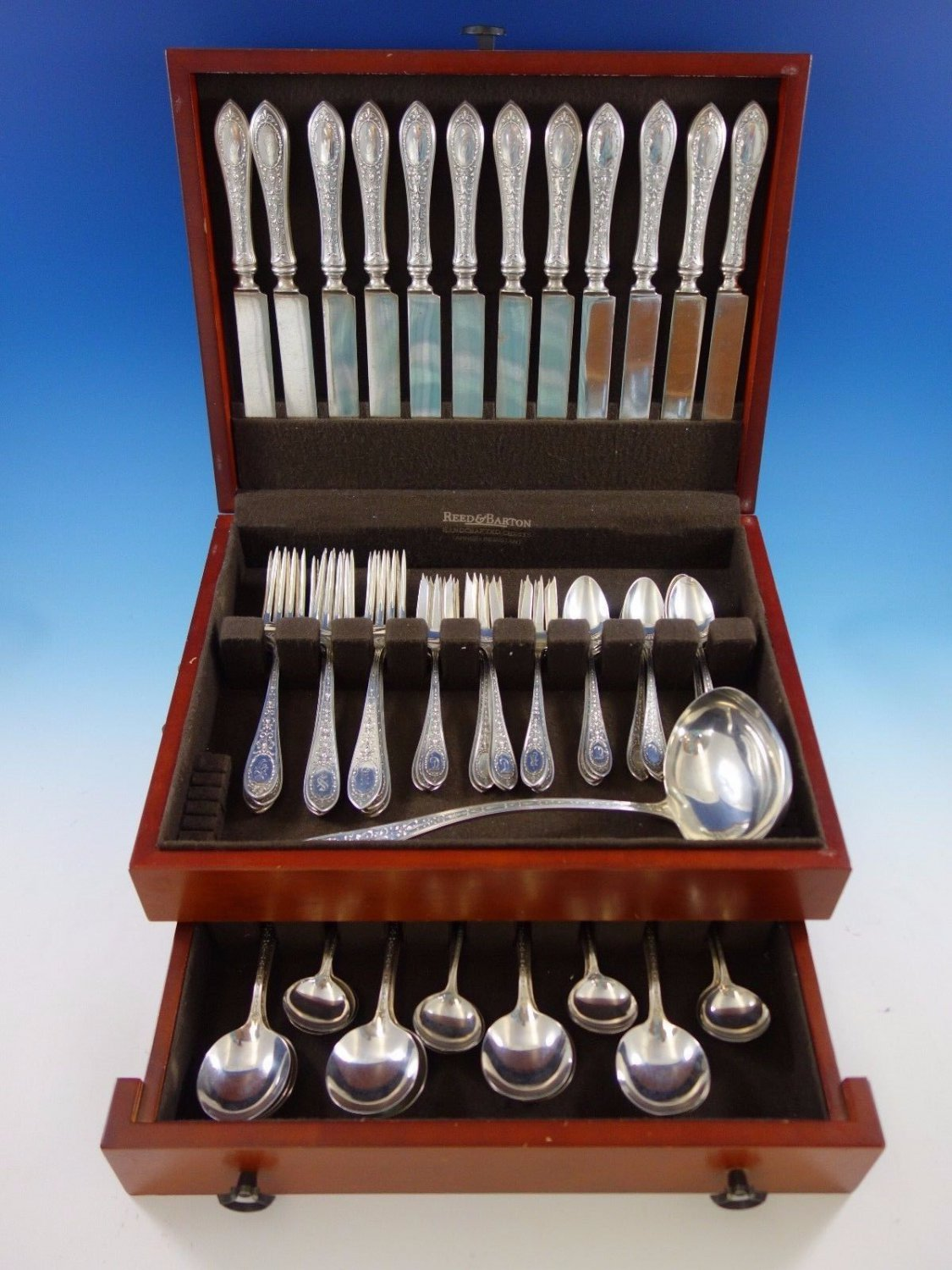 Adam by Whiting Sterling Silver Flatware Set for 12 Dinner Service 73 Pieces