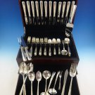 Camellia by Gorham Sterling Silver Flatware Set For 12 Service 73 Pieces