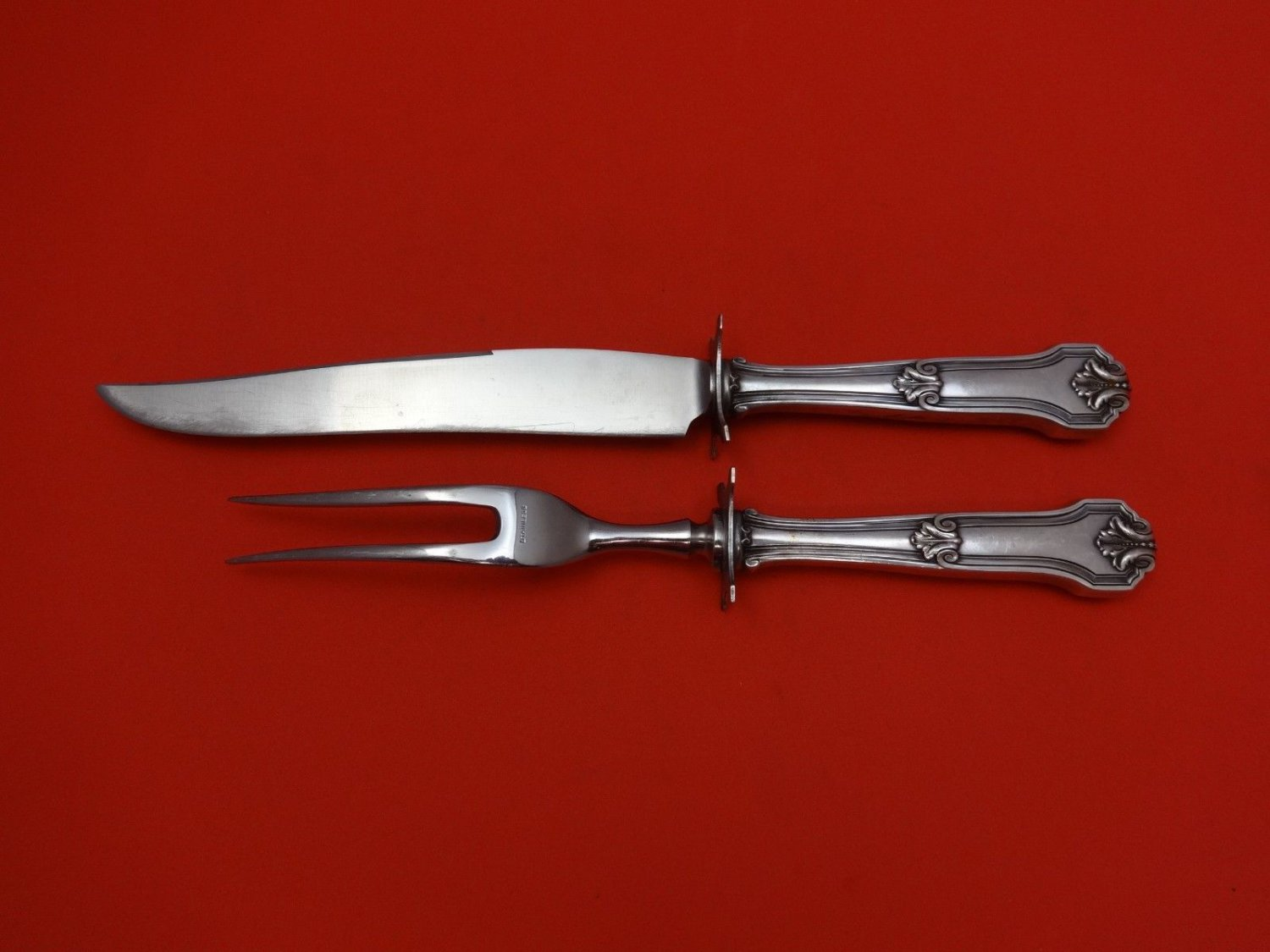 Corinthian by Wallace Sterling Silver Steak Carving Set 2pc HHWS  10 1/8""