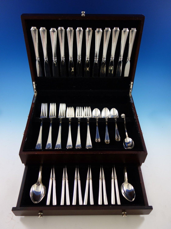 Fairfax by Gorham Sterling Silver Flatware Set 12 Service 73 Pcs Place Size