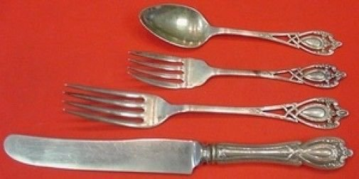 Monticello by Lunt Sterling Silver Dinner Size Place Setting(s) 4pc