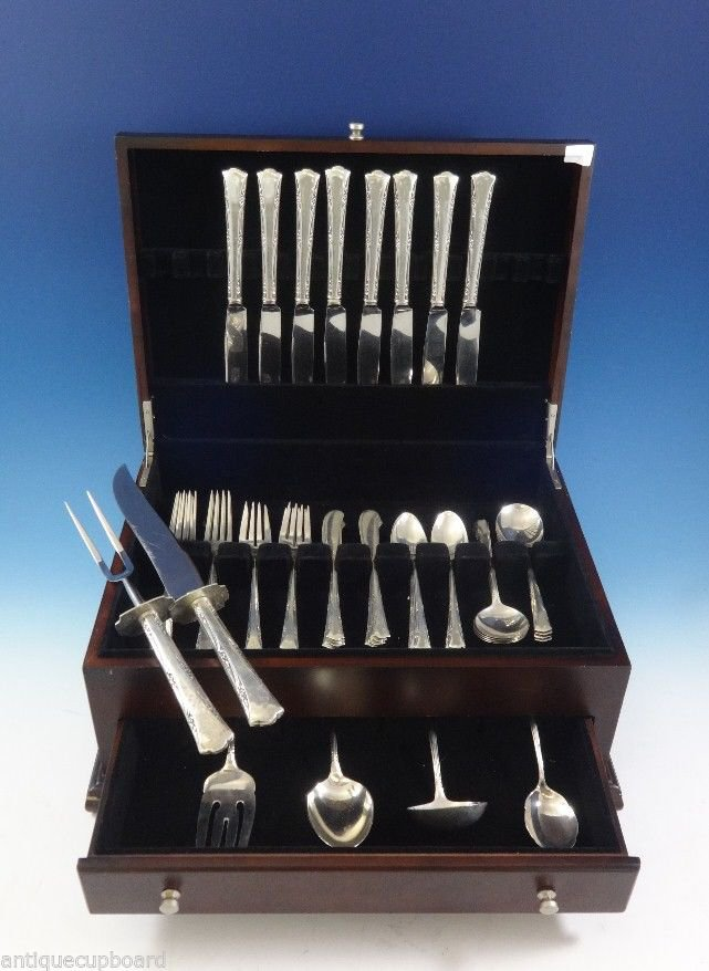 Greenbrier by Gorham Sterling Silver Flatware Set For 8 Service Dinner Size