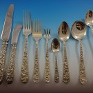 Repousse by Kirk Sterling Silver Flatware Service For 12 Set 116 Pieces
