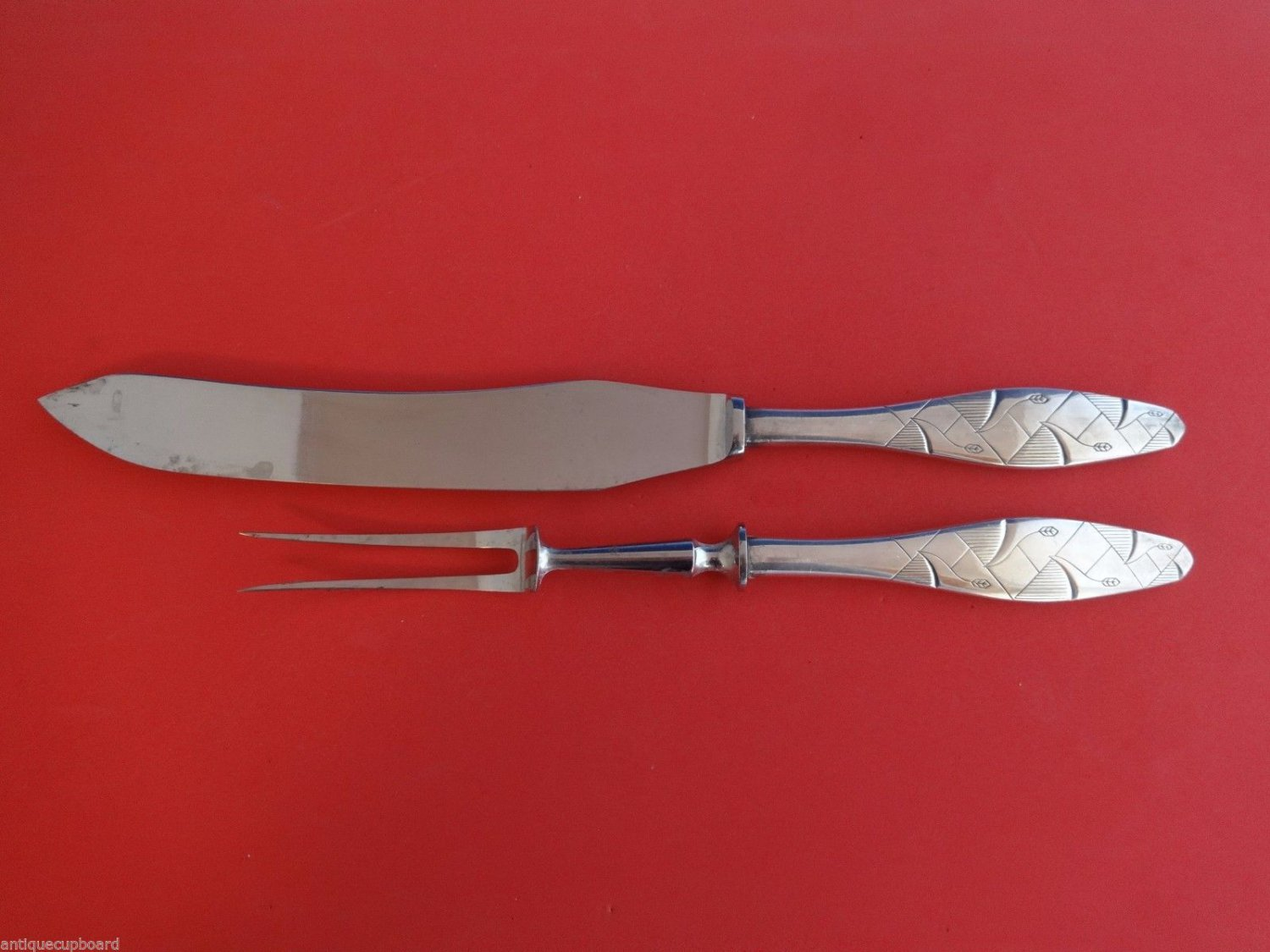 Diamond by A. Dragsted Sterling Silver Roast Carving Set 2pc HHWS