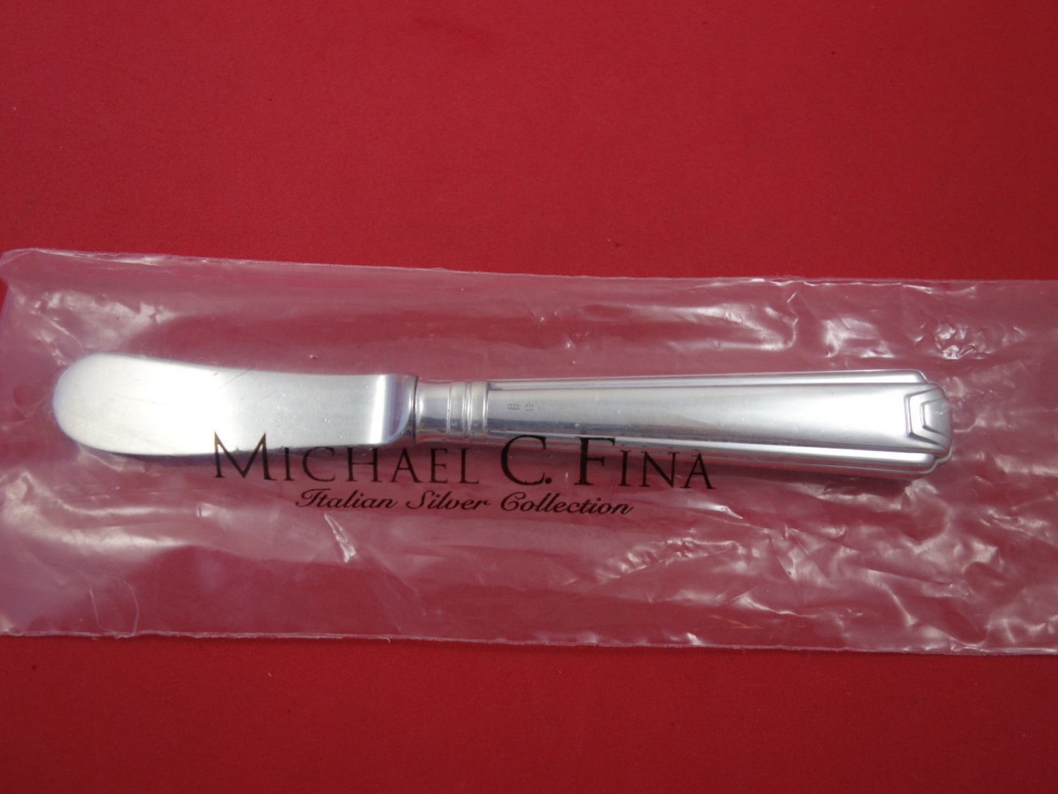 """Decor By Schiavon Sterling Silver Butter Spreader HH Padle 6 1/2"""" New"""