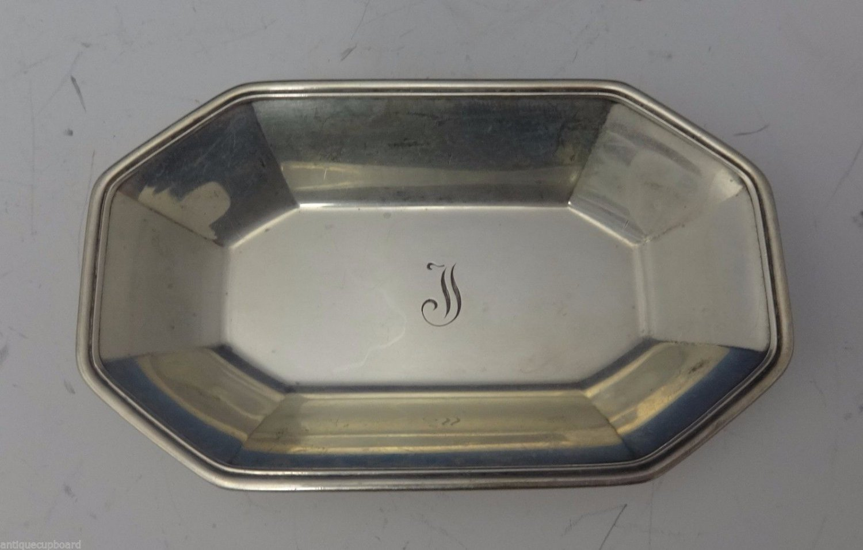 "Tiffany & Co. Sterling Silver Nut Dish Art Deco 3 3/4"" X 2 1/4"" (#0677)"