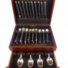 Black by Rosenthal Sterling Silver and Porcelain Flatware Service Set 50 Pcs