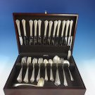 Rosemary by Easterling Sterling Silver Flatware Set For 12 Service 55 Pieces