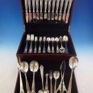 Lillemor by Marthinsen Sterling Silver Flatware Service Dinner Set 69 Pcs S Mono