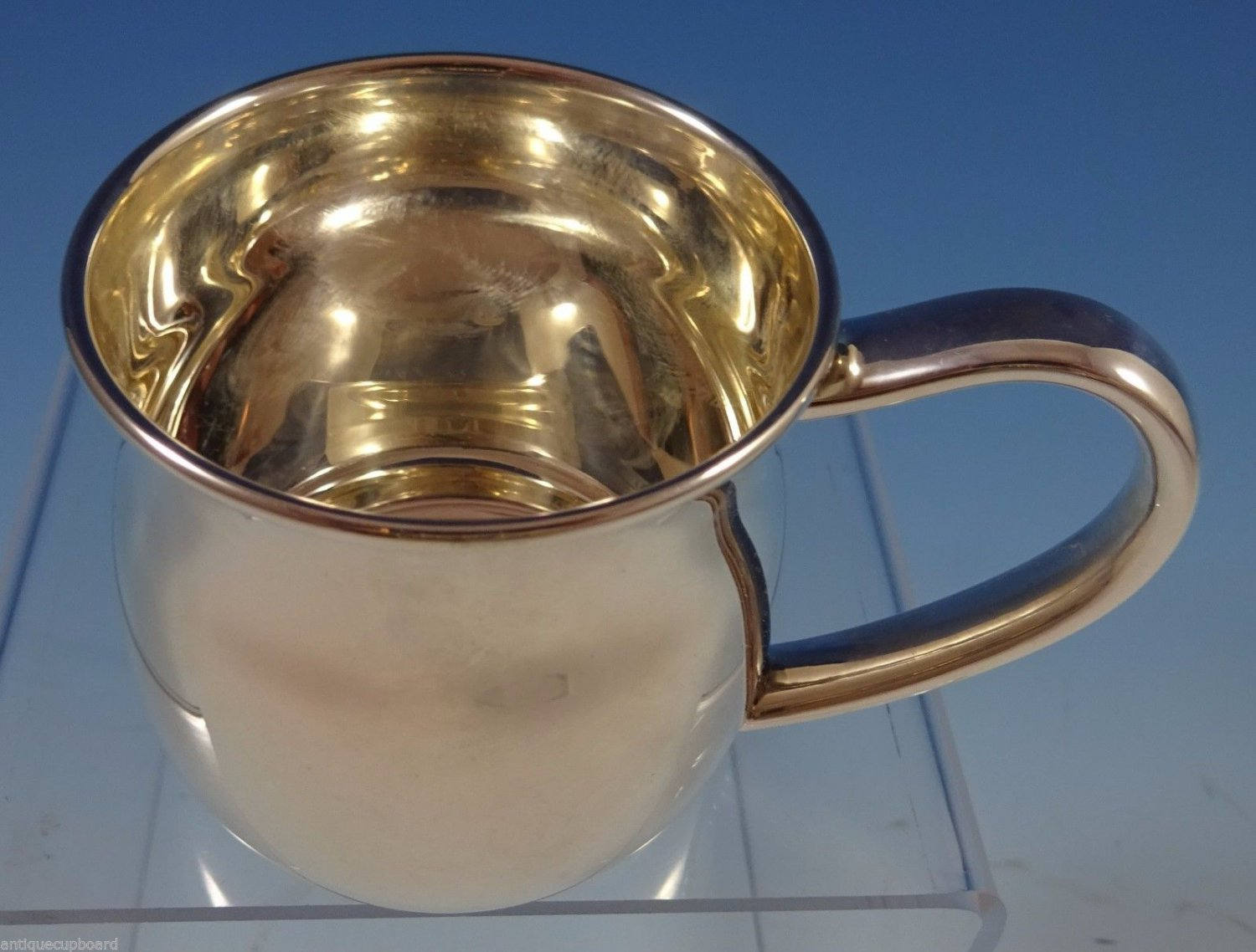 """Silhouette by Lunt Sterling Silver Baby Cup 2 1/4"""" X 2 1/8"""" (#1144)"""