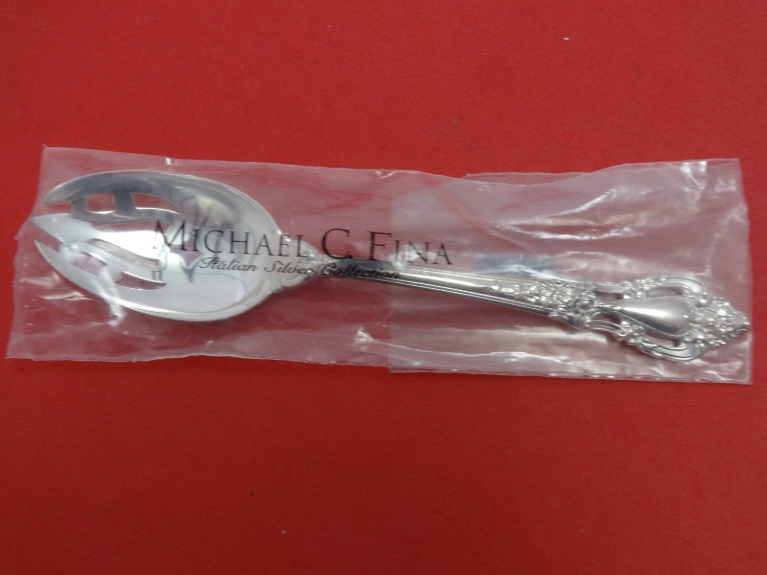 """Eloquence by Lunt Sterling Silver Serving Spoon Pierced Original 8 1/2"""" New"""