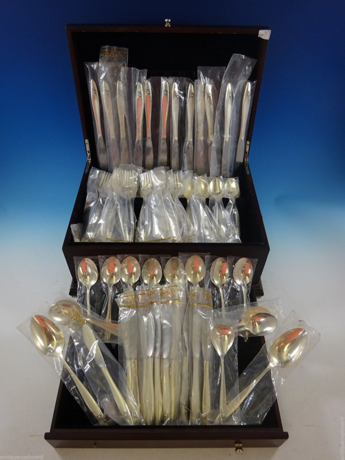 Eternal Rose by Alvin Sterling Silver Flatware Set For 12 Service 76 Pieces New