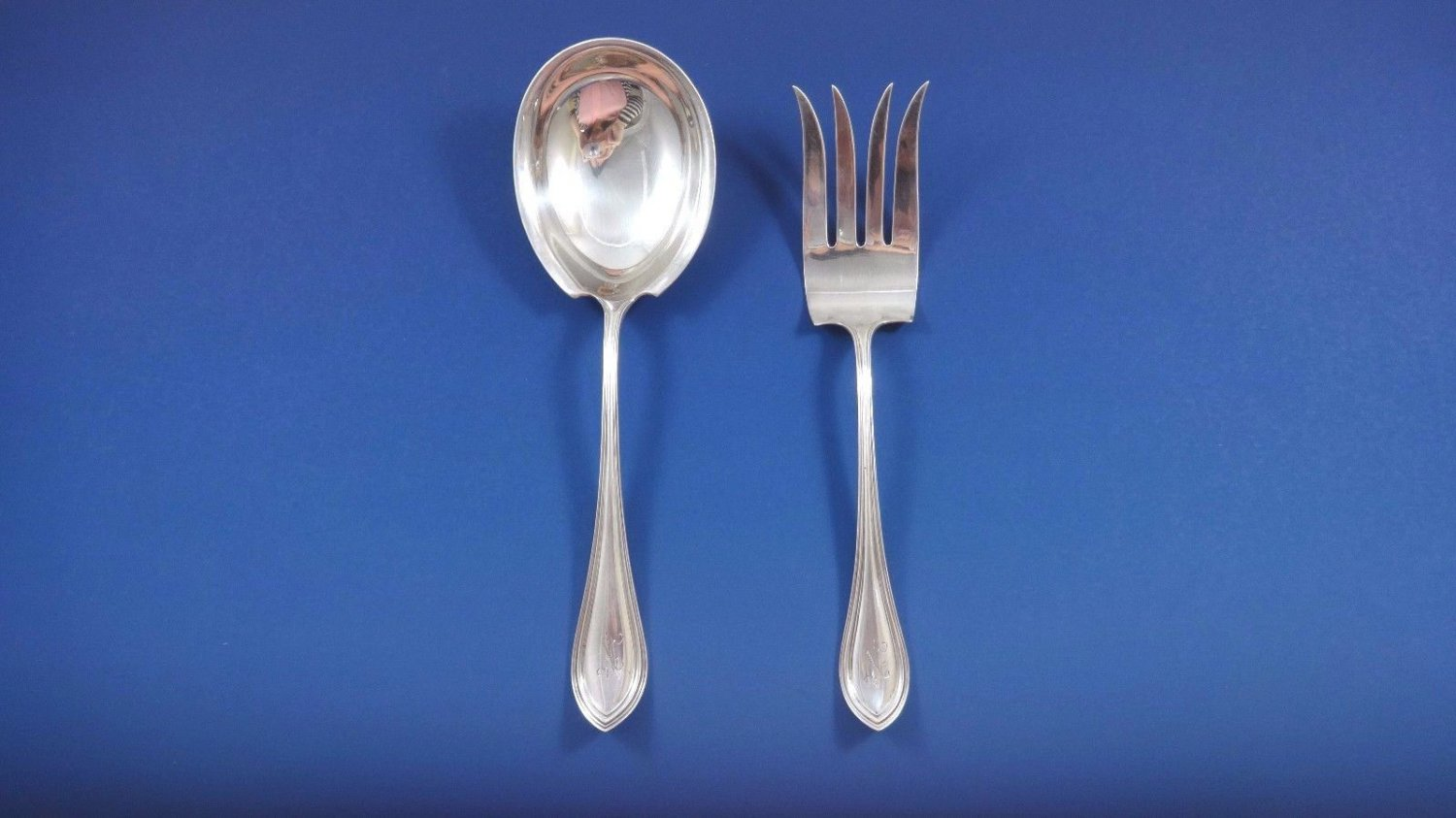 King Philip by Watson Sterling Silver Salad Serving Set 2pc All Sterling 8 3/4""