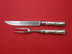 Bamboo By Tiffany and Co. Sterling Silver Steak Carving Set 2-Piece