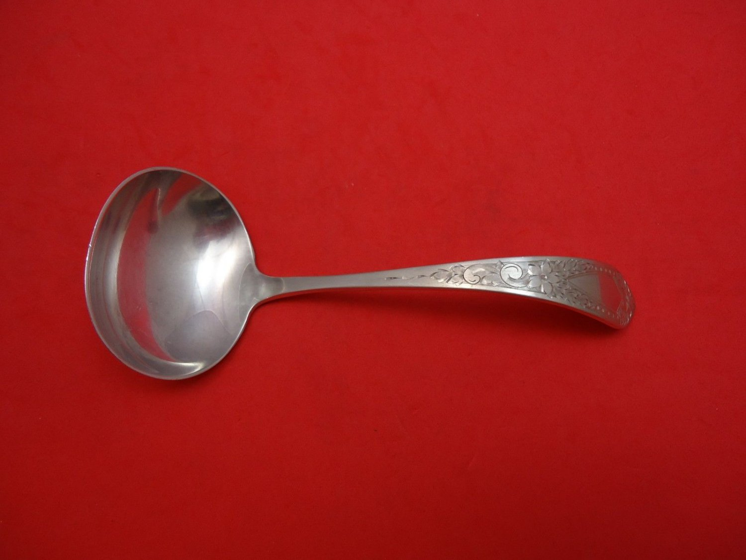 """Betsy Patterson Engraved by Stieff Sterling Silver Gravy Ladle 6 1/4"""""""