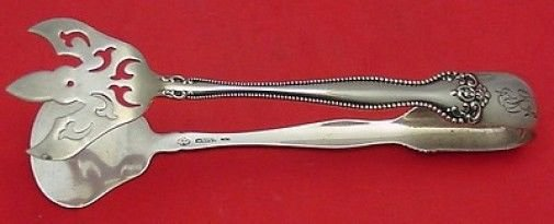 Raleigh by Alvin Sterling Silver Pastry Tongs 6 1/4""