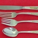 Calvert Engraved Gold by Kirk Sterling Silver Regular Place Size Setting(s) 4pc