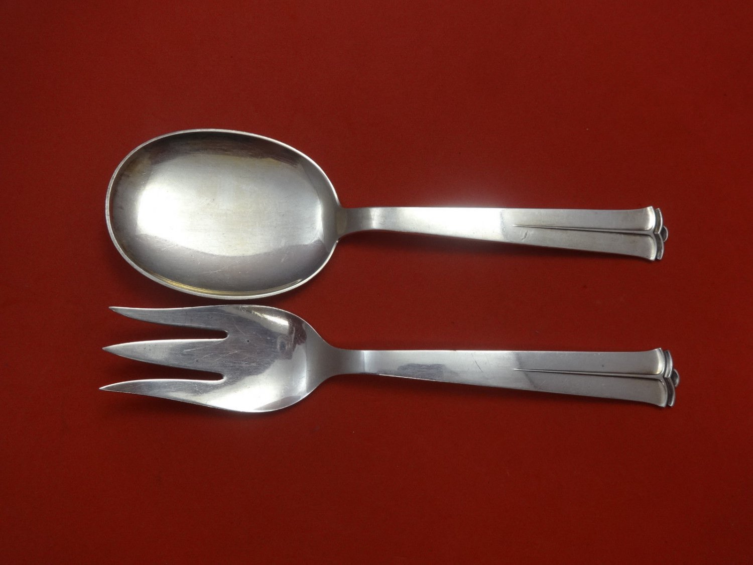 Sparta by Cohr Sterling Silver Salad Set AS 8 3/4""