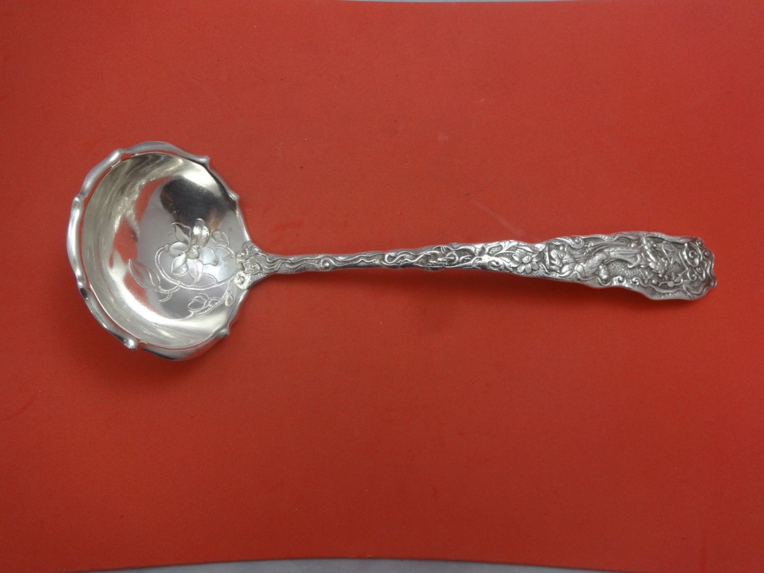 """Hizen by Gorham Sterling Silver Soup Ladle 12 1/2"""""""