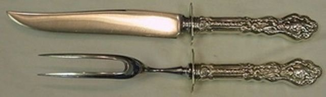 """Versailles by Gorham Sterling Silver Steak Carving Set 2pc HHWS  10"""""""