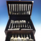 Damask Rose by Oneida Sterling Silver Flatware Set For 12 Service 69 Pcs