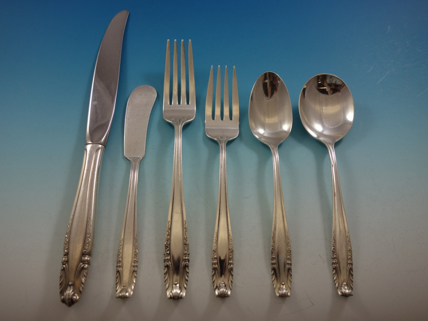 Stradivari by Wallace Sterling Silver Flatware Set For 12 Service 78 Pieces